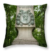 Monument Of Major Obrien In Jedlesee Vienna Throw Pillow