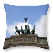 Monument On Brandenburger Tor  Throw Pillow