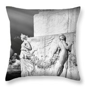 Monument Particular In Rome Throw Pillow