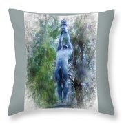 Monument To Francisco Ferrer Y Guardia Throw Pillow