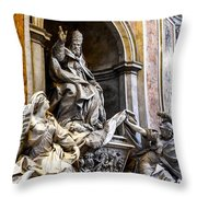 Monument To Pope Gregory Xiii In St Peter's Basilica Throw Pillow