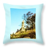 Monument To The 91st Pennsylvania  Volunteers Throw Pillow