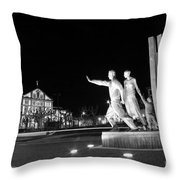 Monument To The Emigrant Throw Pillow