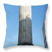 Monument To The Great Fire Of London Throw Pillow
