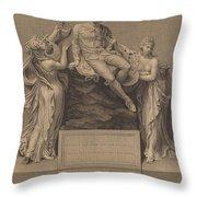 Monument To William Shakespeare Throw Pillow