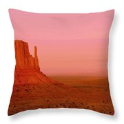 Monument Valley  --  The Mittens  Throw Pillow