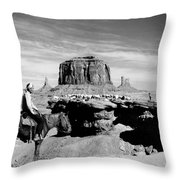 Monument Valley: Butte Throw Pillow