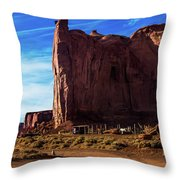 Monument Valley Corral Throw Pillow