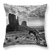 Monument Valley Horses Throw Pillow