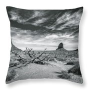 Monument Valley Throw Pillow by Lou Novick