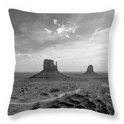 Monument Valley Monochrome Throw Pillow