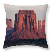 Monument Valley Sunrise 7288 Throw Pillow