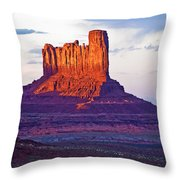 Monument Valley Sunset One Throw Pillow