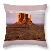 Monument Valley Sunset Panorama Throw Pillow