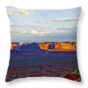 Monument Valley Sunset Two Throw Pillow