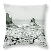 Monument Valley, Winter Throw Pillow