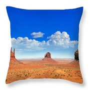 Monument Vally Buttes Throw Pillow by Jane Rix