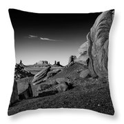 Monument Valley Rock Formations Throw Pillow