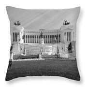 Monumental Architecture In Rome Throw Pillow