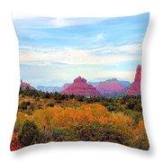 Monumental Bell Rock Vista Throw Pillow