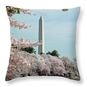 Monumental Cherry Blossoms Throw Pillow