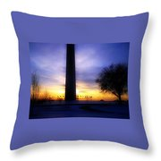 Monumental Sunset Throw Pillow