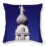 Monumento Al Divino Salvador Del Mundo Throw Pillow