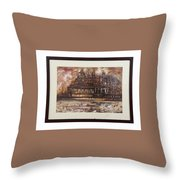 Monuments At Utaranchal Throw Pillow