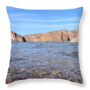 Monuments On Water Throw Pillow