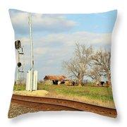 Moo Moo Train Track Throw Pillow