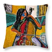 Mood In Music Throw Pillow