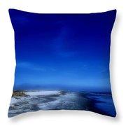 Mood Of A Beach Evening - Jersey Shore Throw Pillow