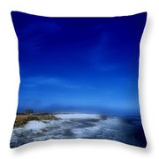 Mood Of A Beach Evening - Jersey Shore Throw Pillow