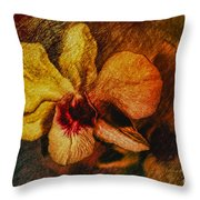 Mood Of The Orchid Throw Pillow