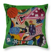 Moodigras Throw Pillow