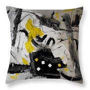 Moods Yellow Let It All Hang Out Throw Pillow