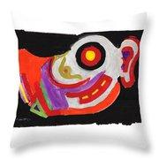 Moody Art Student Throw Pillow
