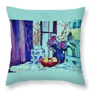Moody Blues Throw Pillow