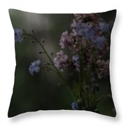 Moody Bouquet Throw Pillow