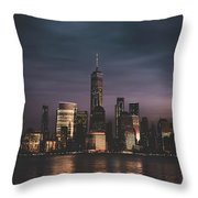 Moody Nyc Throw Pillow