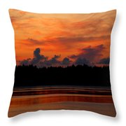 Moody Reds Throw Pillow