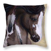 Mookaite Throw Pillow by Brandy Woods