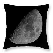 Moon 61 Percent Throw Pillow