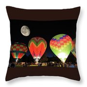 Moon And Balloons Throw Pillow