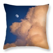 Moon And Cloud Throw Pillow