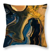 Moon And Fiance Throw Pillow