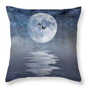 Moon And Sea Throw Pillow