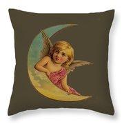 Moon Angel T Shirt Design Throw Pillow