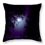 Moon - Between - The - Trees Throw Pillow