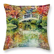 Moon Bridge Throw Pillow